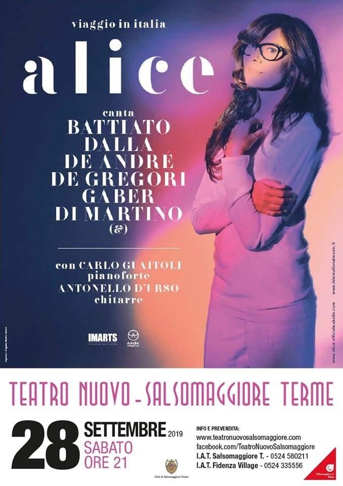 """Alice """"Viaggio in Italia"""" - Concerto al Teatro Nuovo di Salsomaggiore"""
