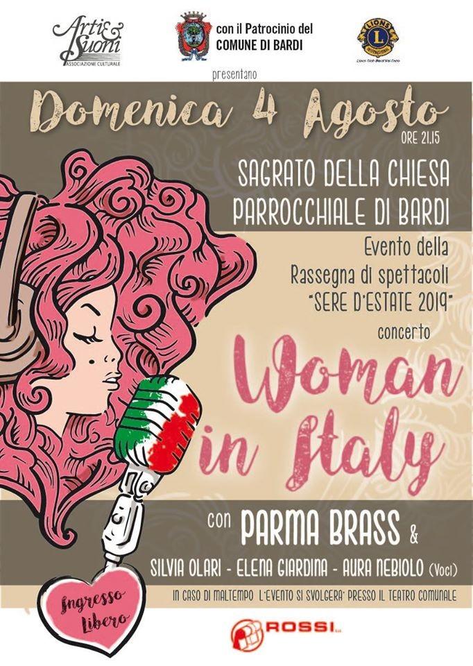 """""""Woman in Italy"""", concerto del PARMA BRASS"""