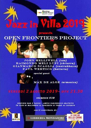 JAZZ IN VILLA 2019      OPEN FRONTIERS PROJECT      con JOHN HELLIWELL e PAUL WERTICO