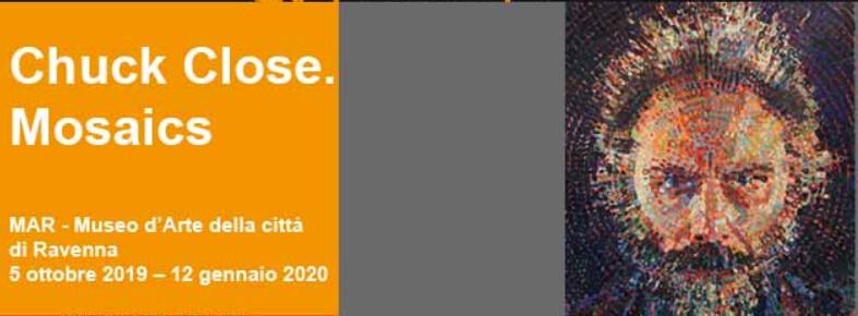 """Al MAR di Ravenna """"Chuck Close. Mosaics"""""""