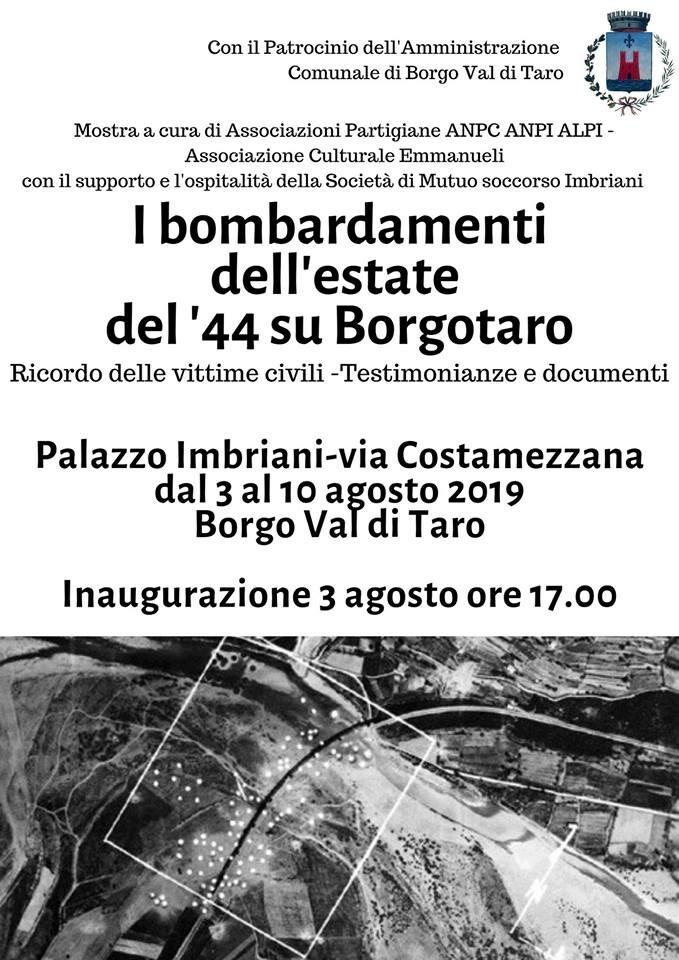 I bombardamenti dell'estate del '44 a Borgotaro, mostra documentaria