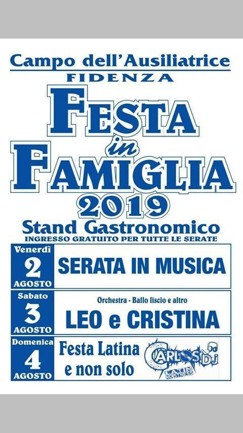 FESTA IN FAMIGLIA 2019 a Fidenza