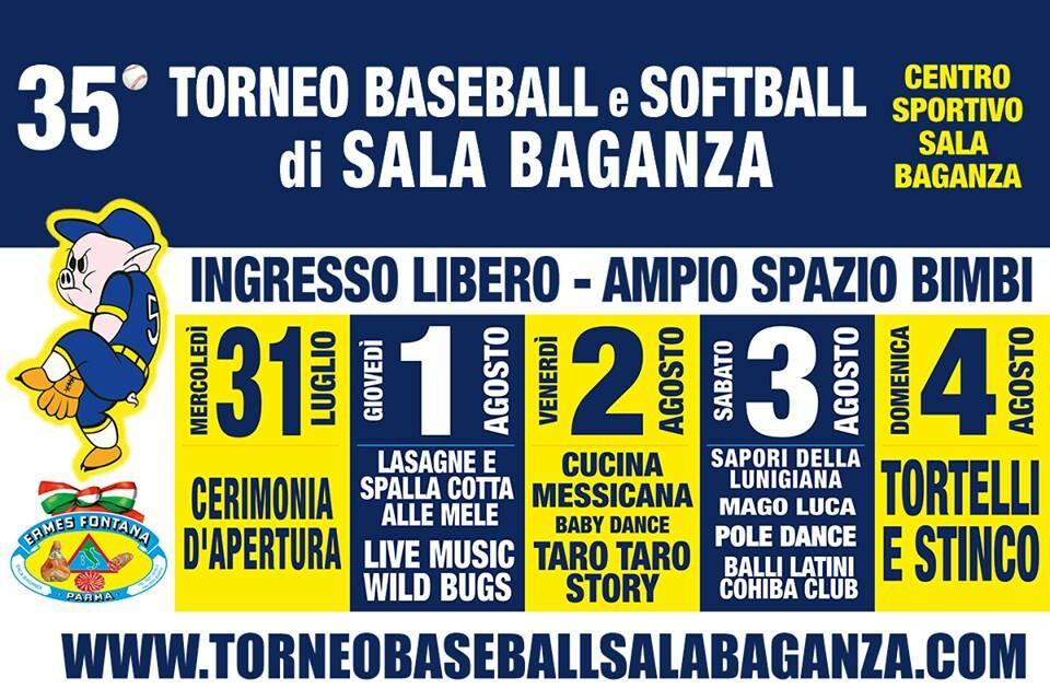 """35° torneo di baseball e softball """"Trofeo Ermes Fontana"""""""