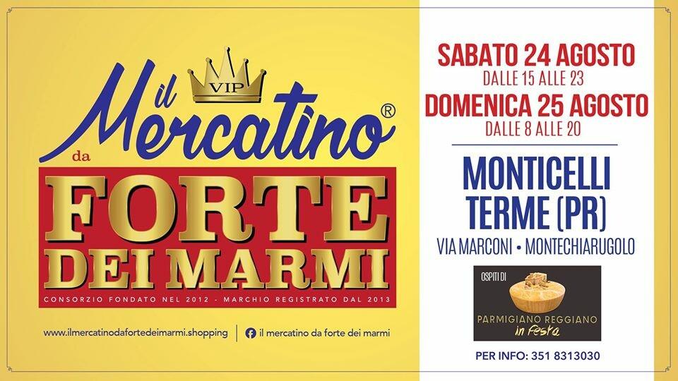 Mercatino da Forte dei Marmi a Monticelli Terme