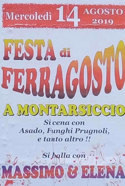 Grande festa di Ferragosto a Montarsiccio