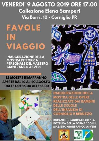 """""""Favole in Viaggio"""": due mostre al Museo Samperi a Corniglio La personale di Gianfranco Asveri e le opere della scuola dell'Infanzia"""