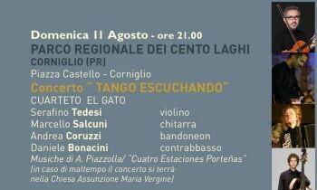 """""""Tango Escuchando"""": I Parchi della Musica a Corniglio Domenica 11 Agosto nella splendida cornice del Castello"""