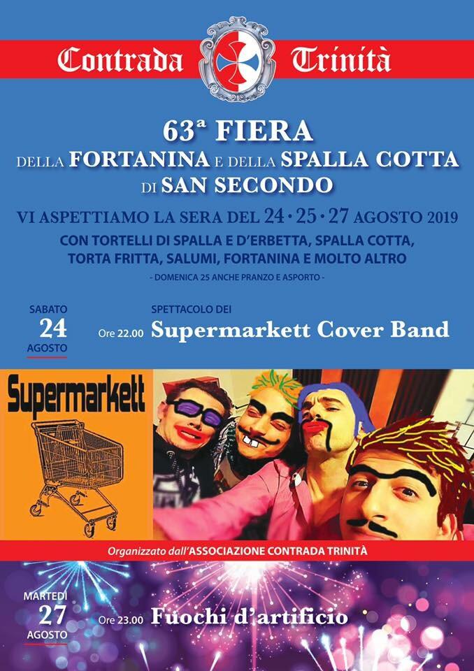 63^ Fiera della Fortanina e della Spalla Cotta di San Secondo: Supermarkett Cover Band!!