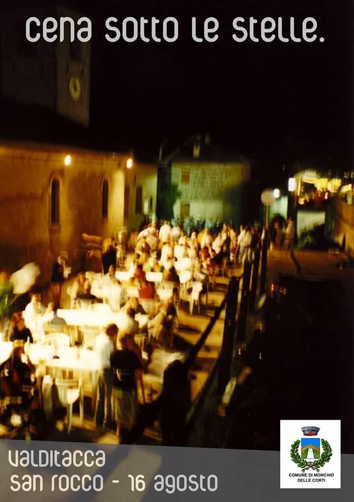 Cena sotto le stelle a Valditacca