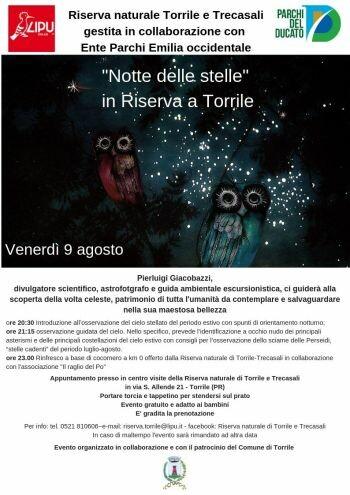 Notte delle stelle in Riserva Torrile e Trecasali  con LIPU