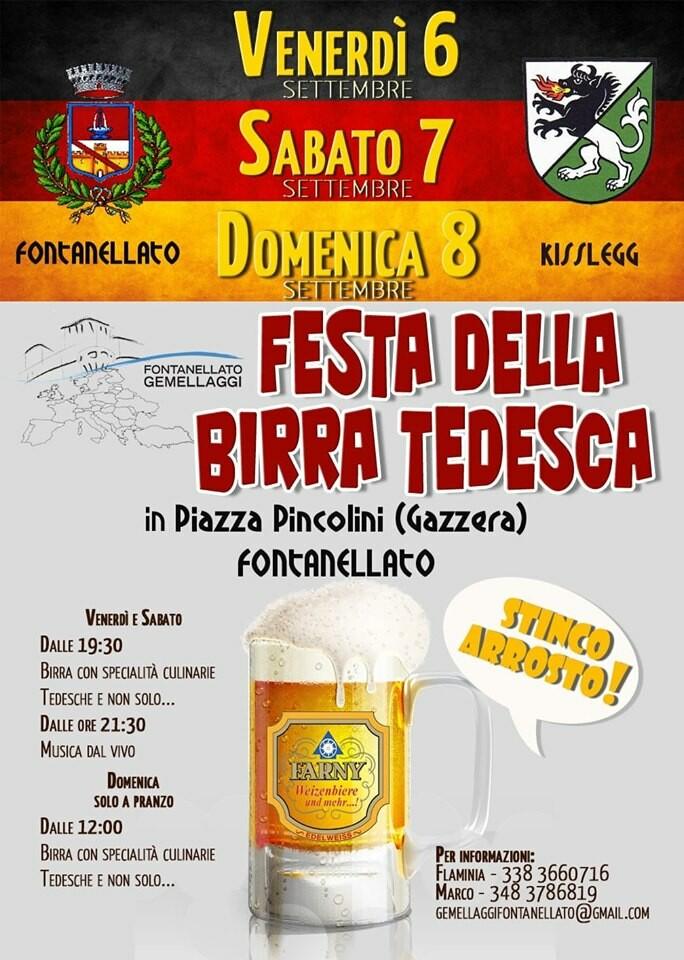 FESTA DELLA BIRRA TEDESCA a Fontanellato