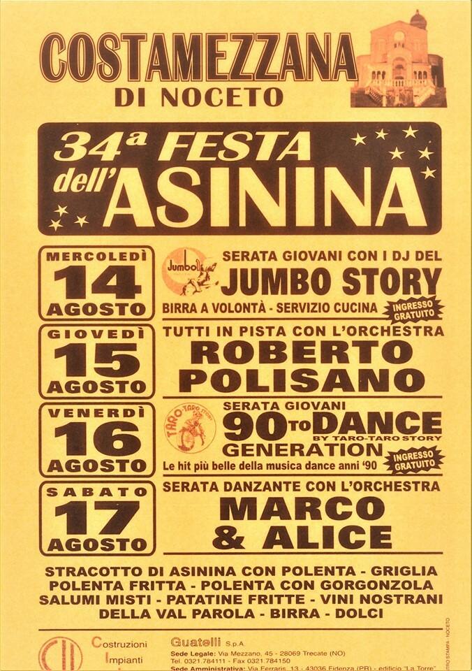 34° Festa Dell' Asinina a  Costamezzana