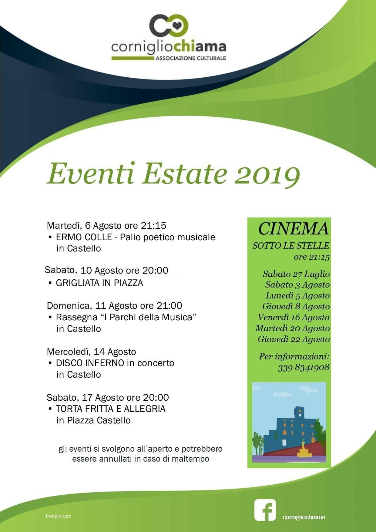 Eventi a Corniglio dal 10 al 22 agosto