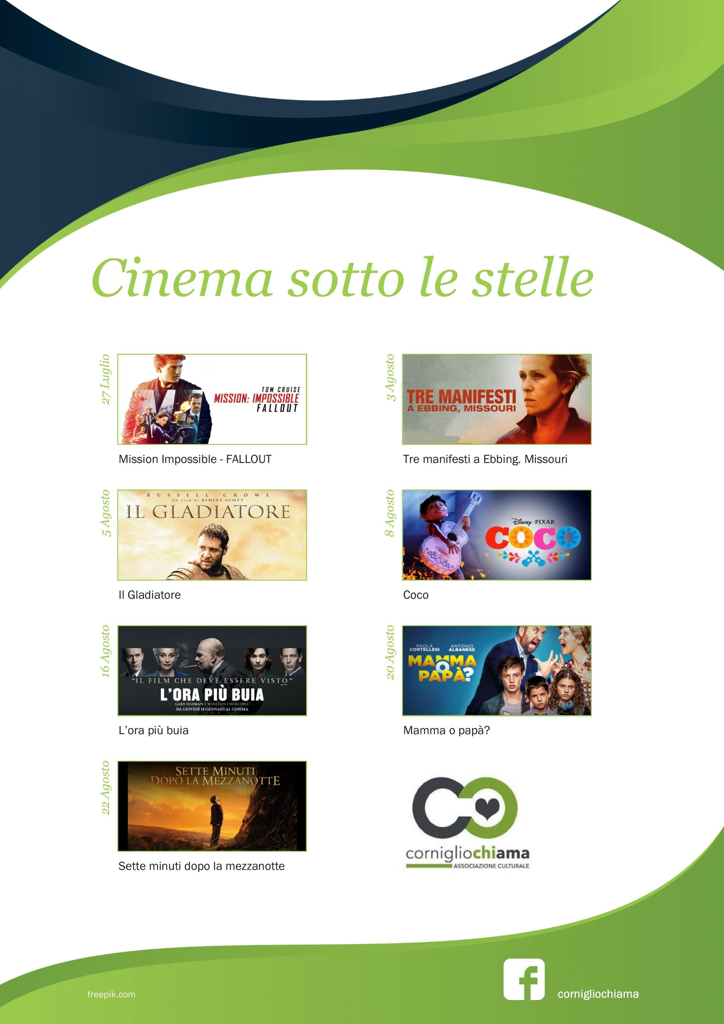 Cinema sotto le stelle a Corniglio