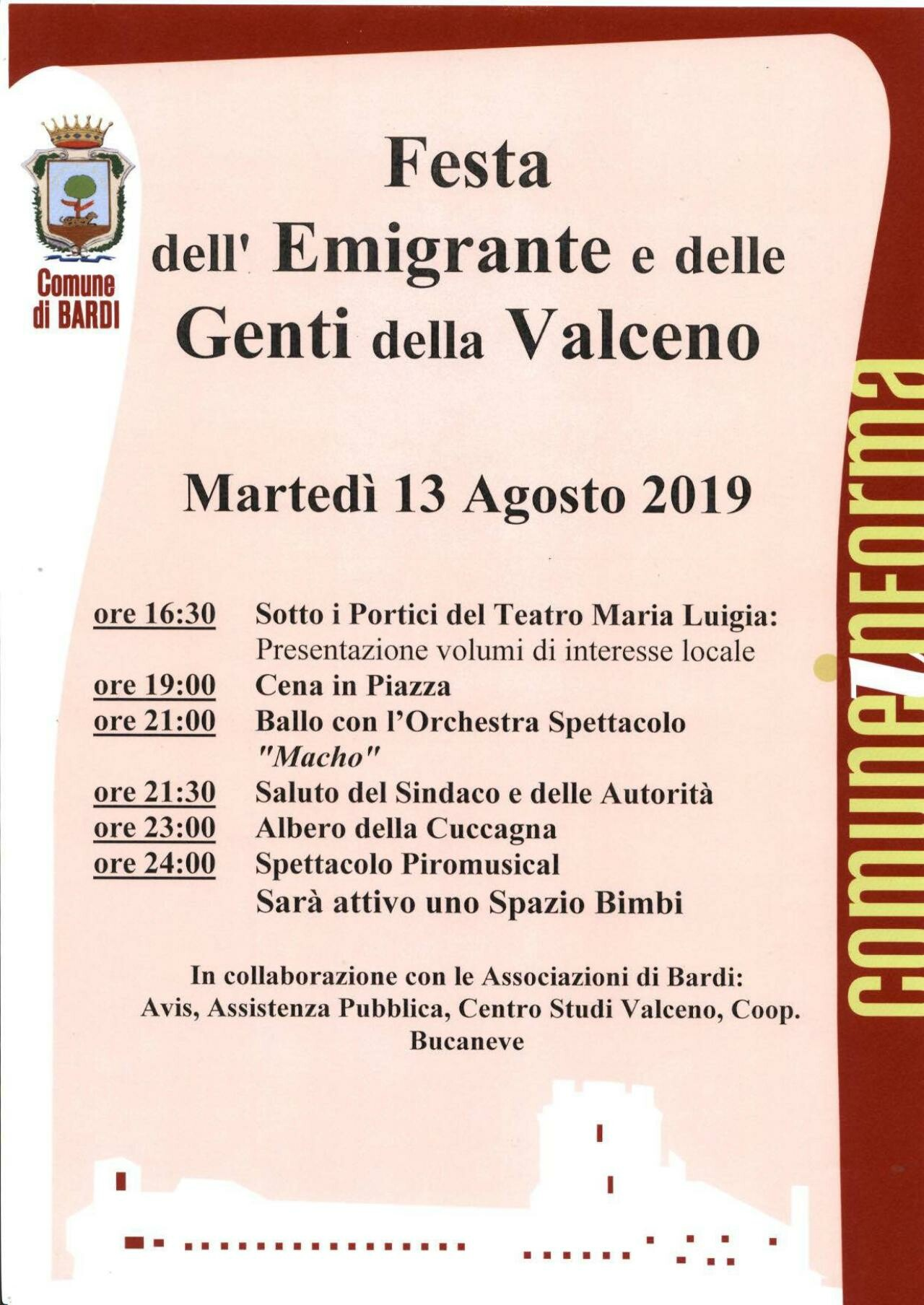 38^ FESTA DELL'EMIGRANTE E DELLE GENTI DELLA VALCENO
