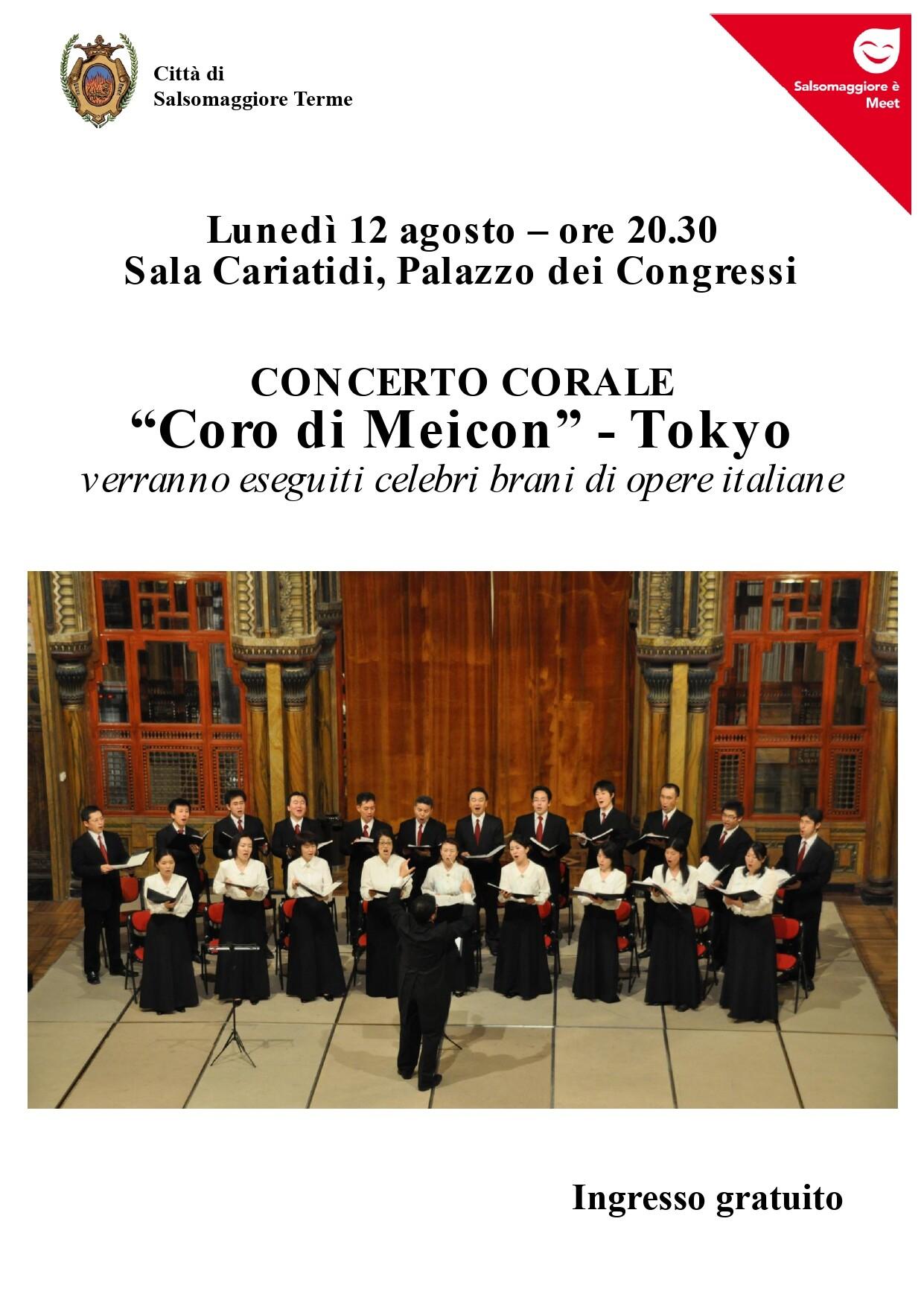 Concerto Corale con il  Coro di Meicon dal Giappone