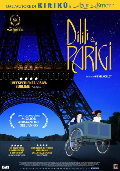 DILILI A PARIGI  Premio Cesar 2019 all'arena estiva del  Cinema Astra