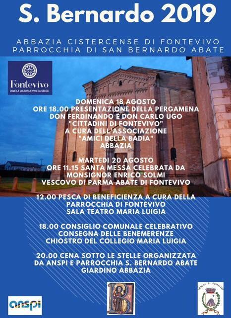 San Bernardo 2019 all'abbazia di Fontevivo