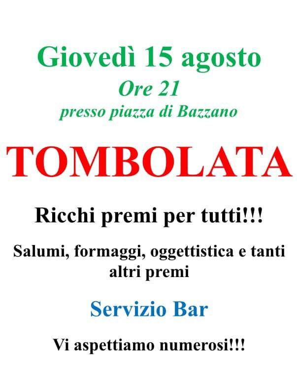 Tombolata a Bazzano