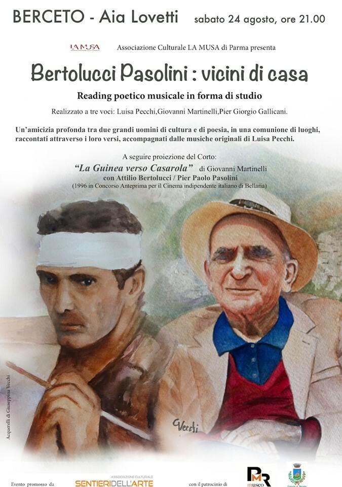Bertolucci Pasolini: vicini di casa, reading poetico musicale