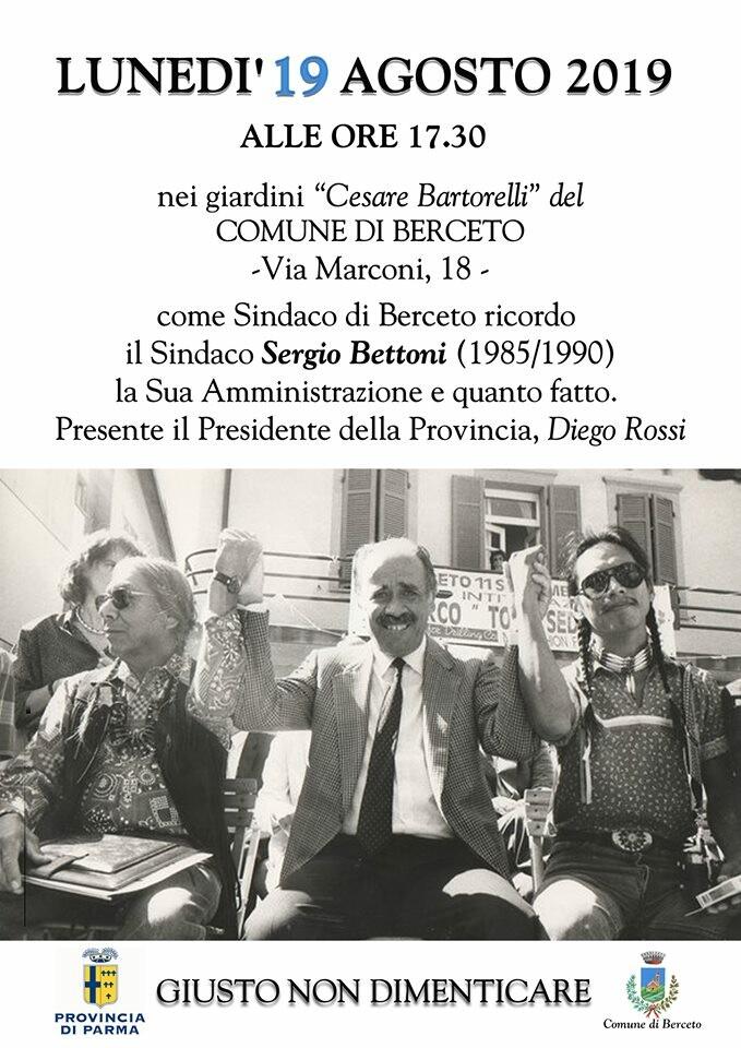 Ricordo del sindaco  Sergio Bettoni