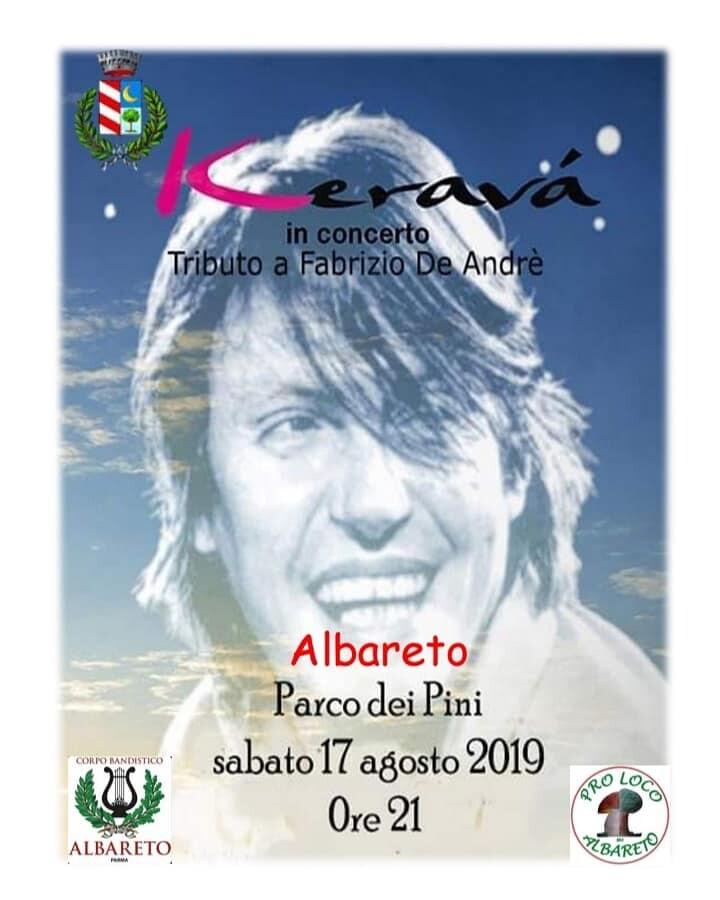 Concerto dei Keravà ad Albareto, tributo a De Andrè