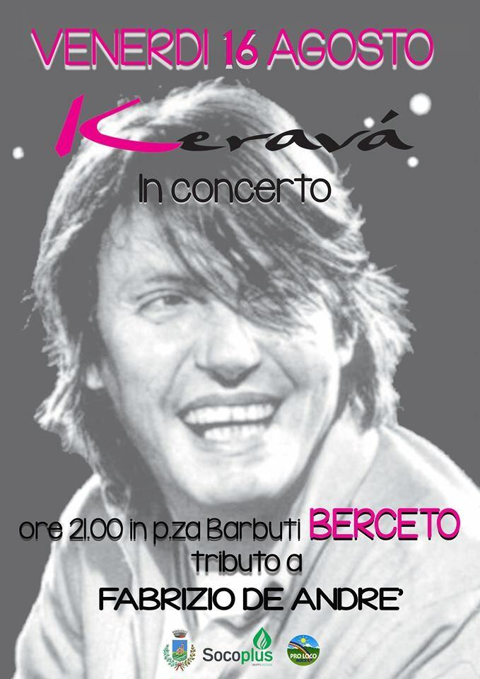 Concerto dei Keravà a Berceto tributo a De Andrè