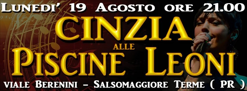 Serata in musica con Cinzia alla Piscina Leoni di Salsomaggiore Terme