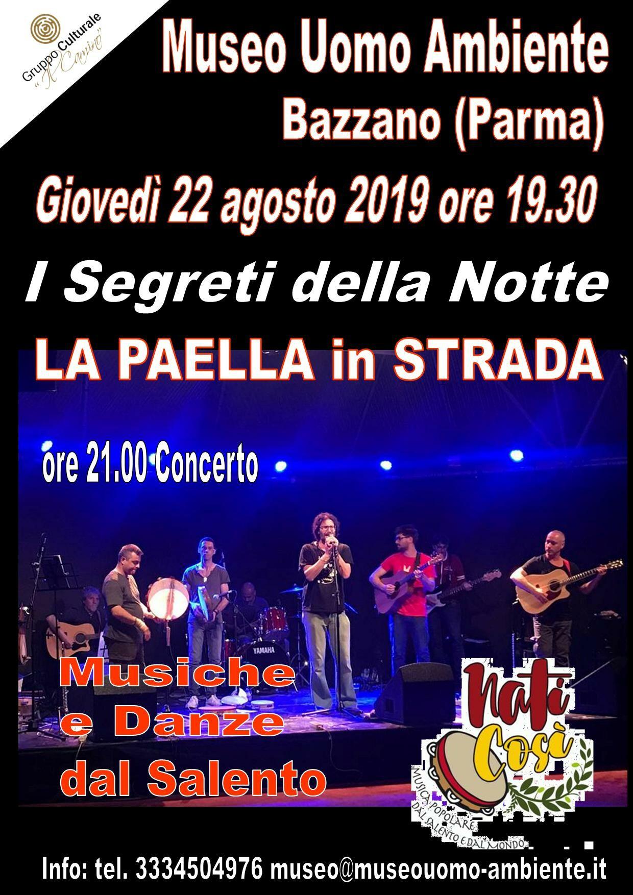 I segreti della notte: paella in strada e concerto a Bazzano