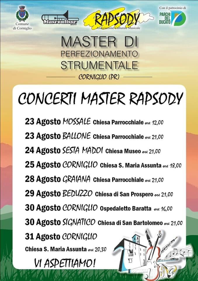 Concerti Allievi Master Rapsody