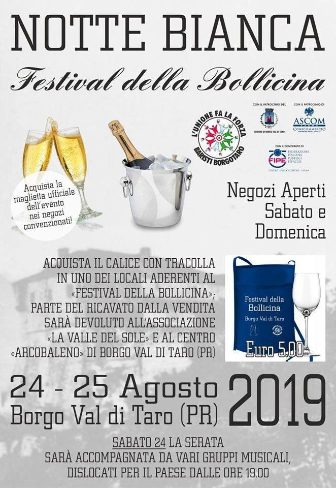 Notte bianca e festival della bollicina a Borgotaro