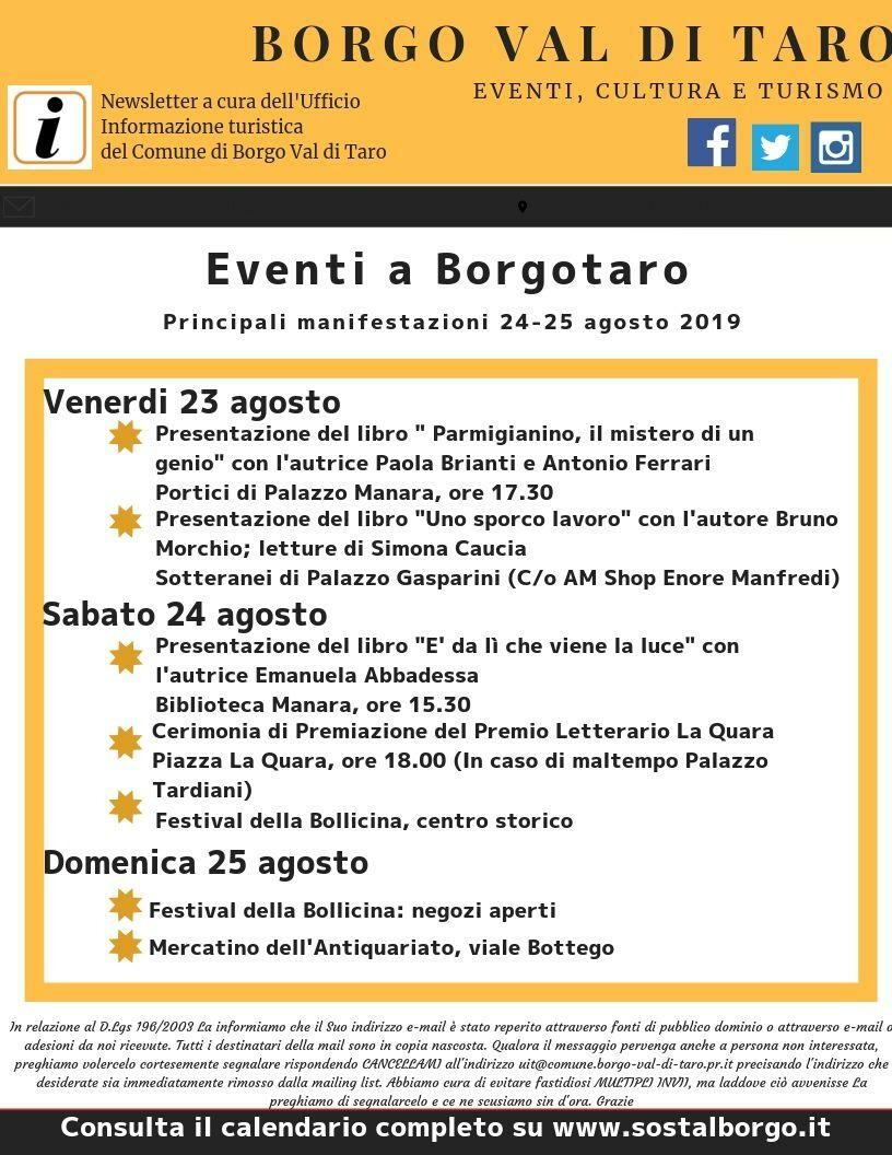 Incontri con gli autori a Borgotaro