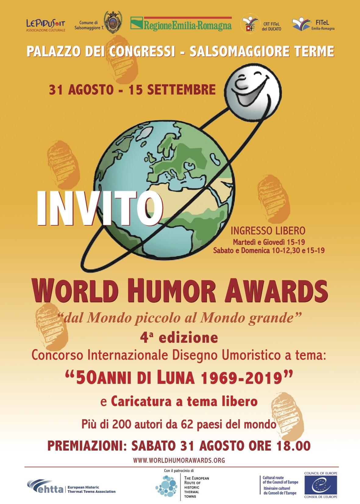 """Mostra """"World Humor  Awards"""" - INAUGURAZIONE  & Premiazione del concorso """"dal  Mondo piccolo al Mondo grande"""""""