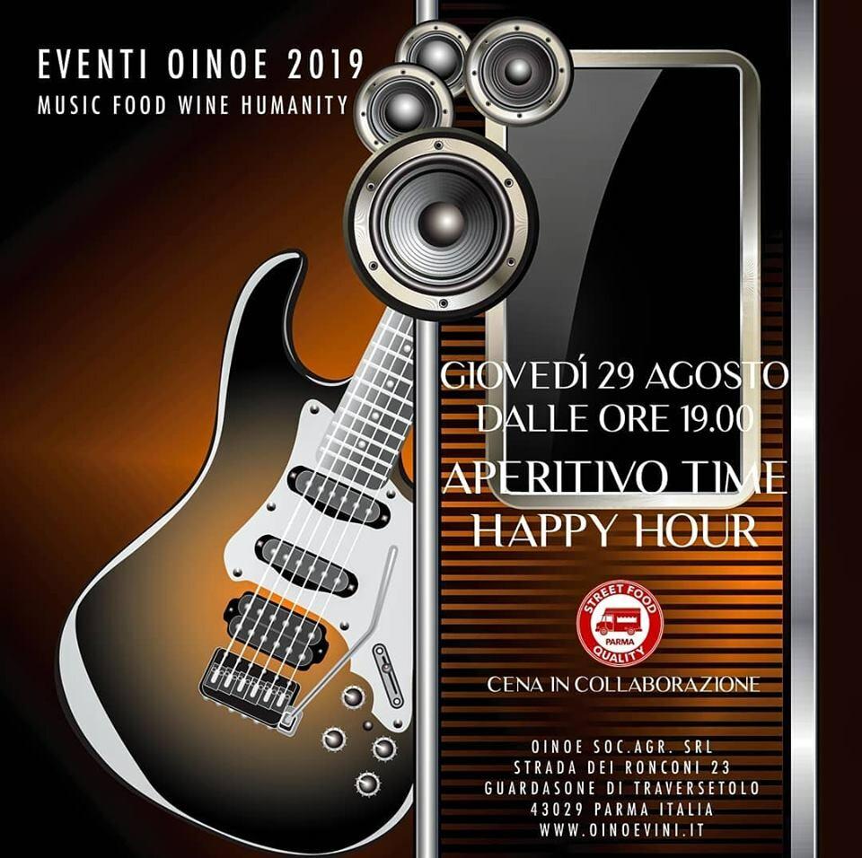 Apericena in cantina da Oinoe con la musica degli Happy Hour