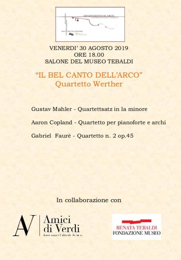"""""""Il bel canto nell'arco"""" a Museo Tebaldi"""