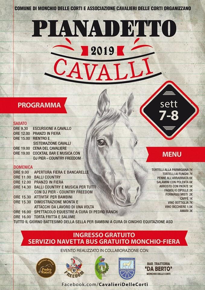 Pianadetto cavalli 2019