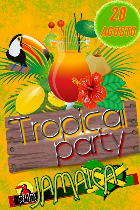 Tropical party al Jamaica pub, SERATA DEL 28 AGOSTO