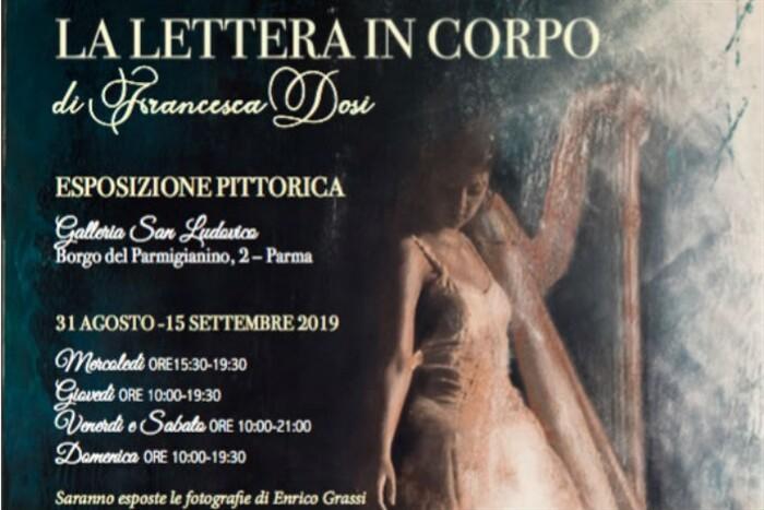 """""""La lettera in corpo""""  mostra dell'artista Francesca Dosi in Galleria San Ludovico."""