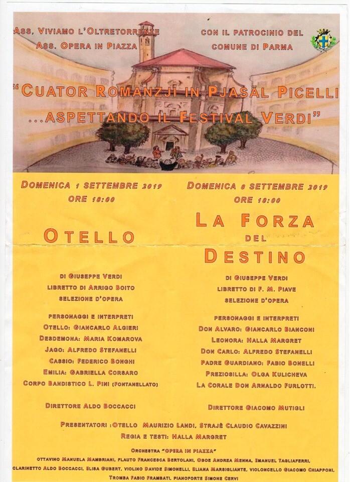 L'opera lirica in Piazzale Picelli