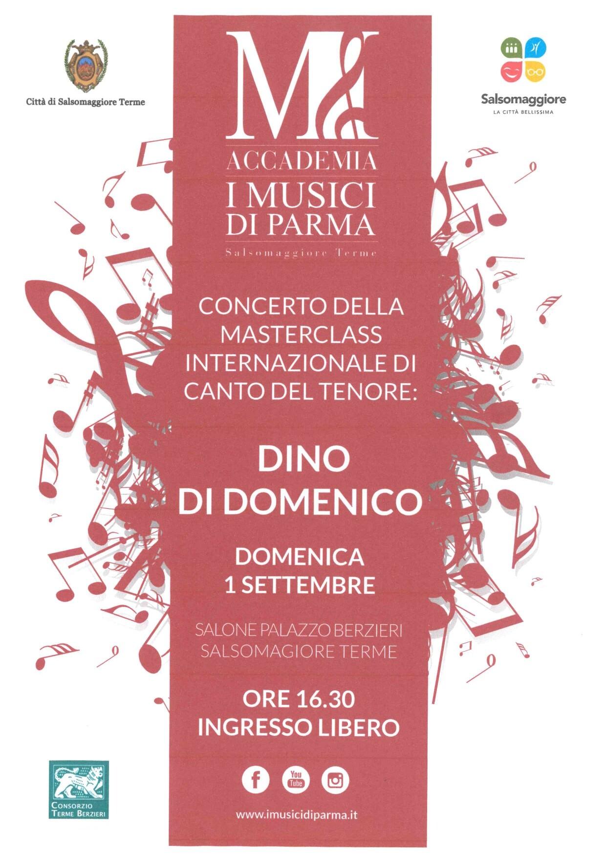 Concerto con il tenore Dino di Domenico al Palazzo delle Terme Berzieri