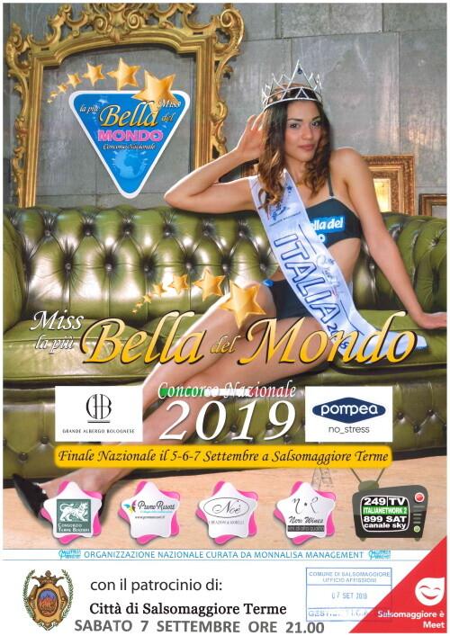 Finali Nazionali del Concorso 'Miss la più Bella del Mondo' in  Piazza Berzieri