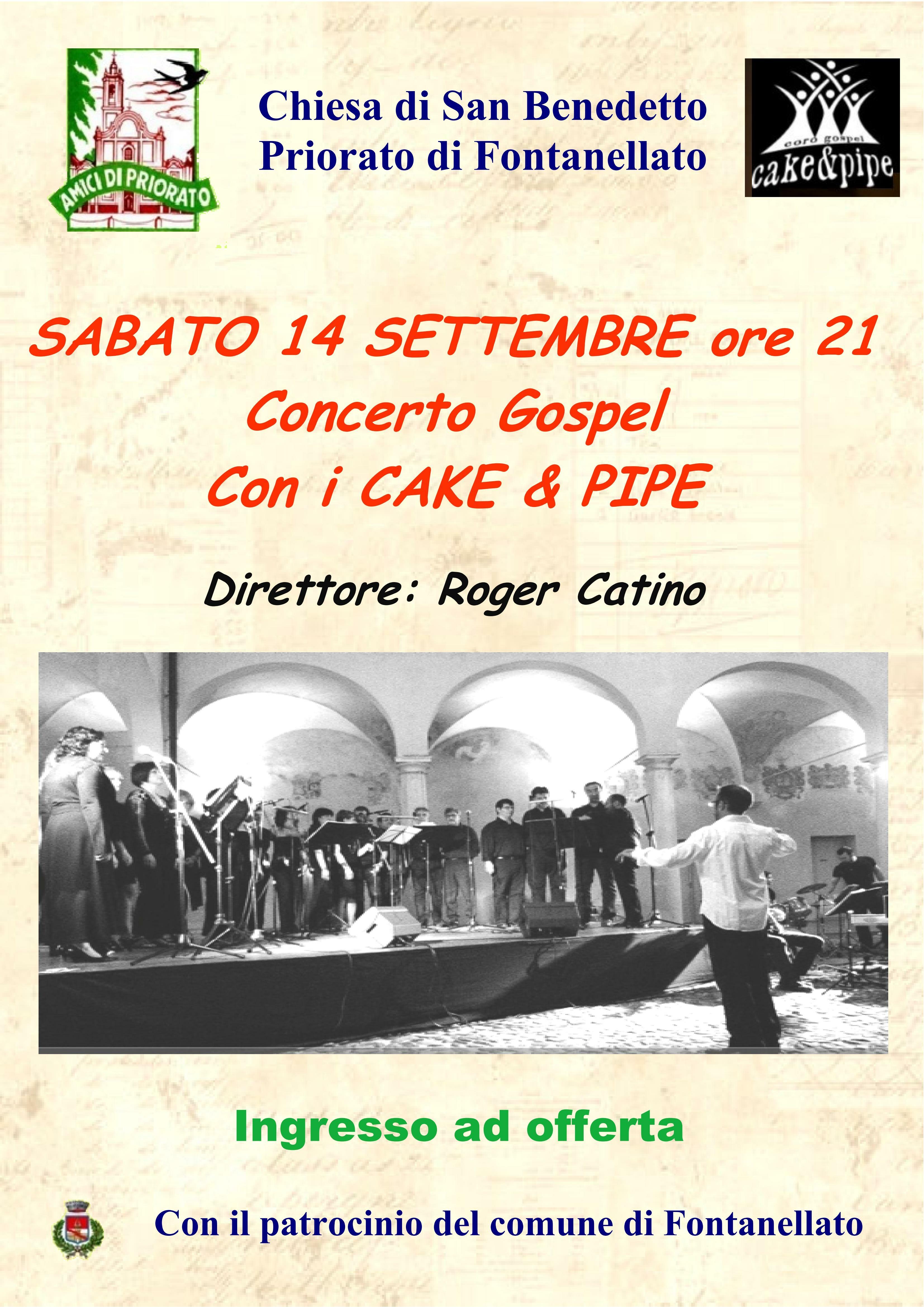 Concerto Gospel con il Gruppo Cake & Pipe nella chiesa di San Benedetto in  Priorato