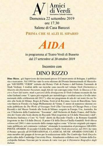 Prima che si alzi il sipario-Aida nel Salone del Museo di Casa Barezzi a Busseto