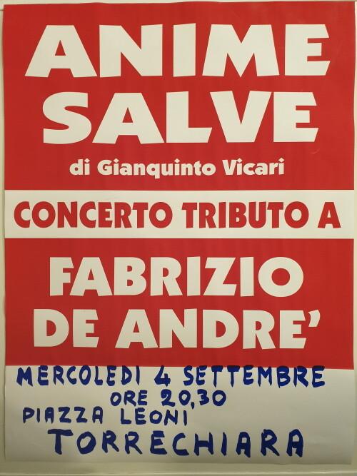 Anime Salve In concerto Tributo a Fabrizio De Andrè a Torrechiara