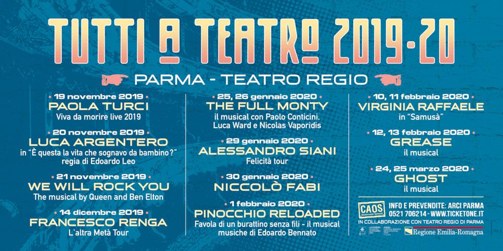 Tutti a Teatro 2019/2020  VI edizione  al Teatro Regio