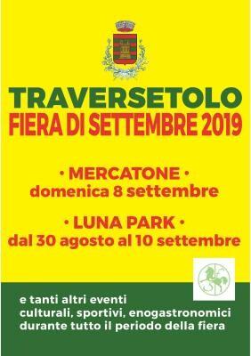 Traversetolo     SAGRA DI SETTEMBRE 2019:     una festa lunga due settimane