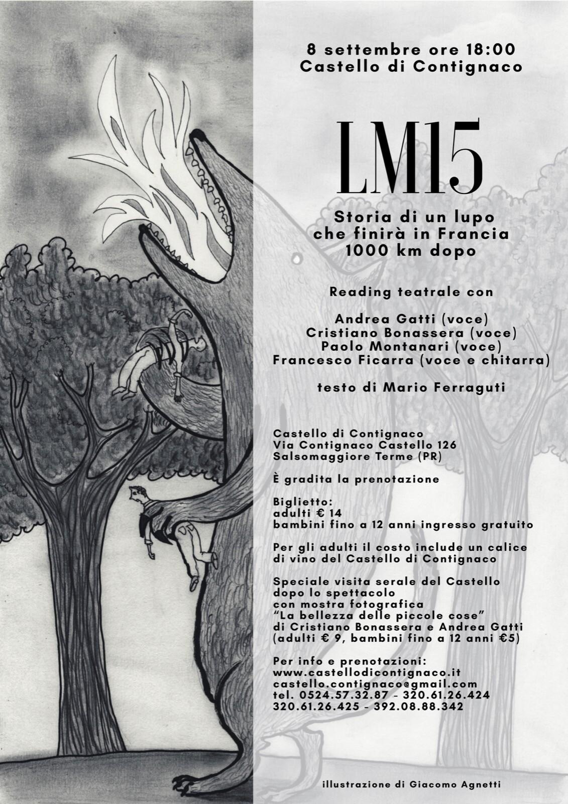 LM15 – Storia di un lupo che finirà in Francia più di 1000 km dopo  Reading teatrale