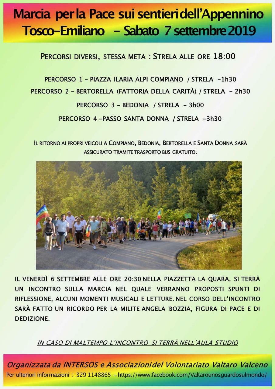 MARCIA DELLA PACE  sui sentieri dell'Appennino Tosco-Emiliano
