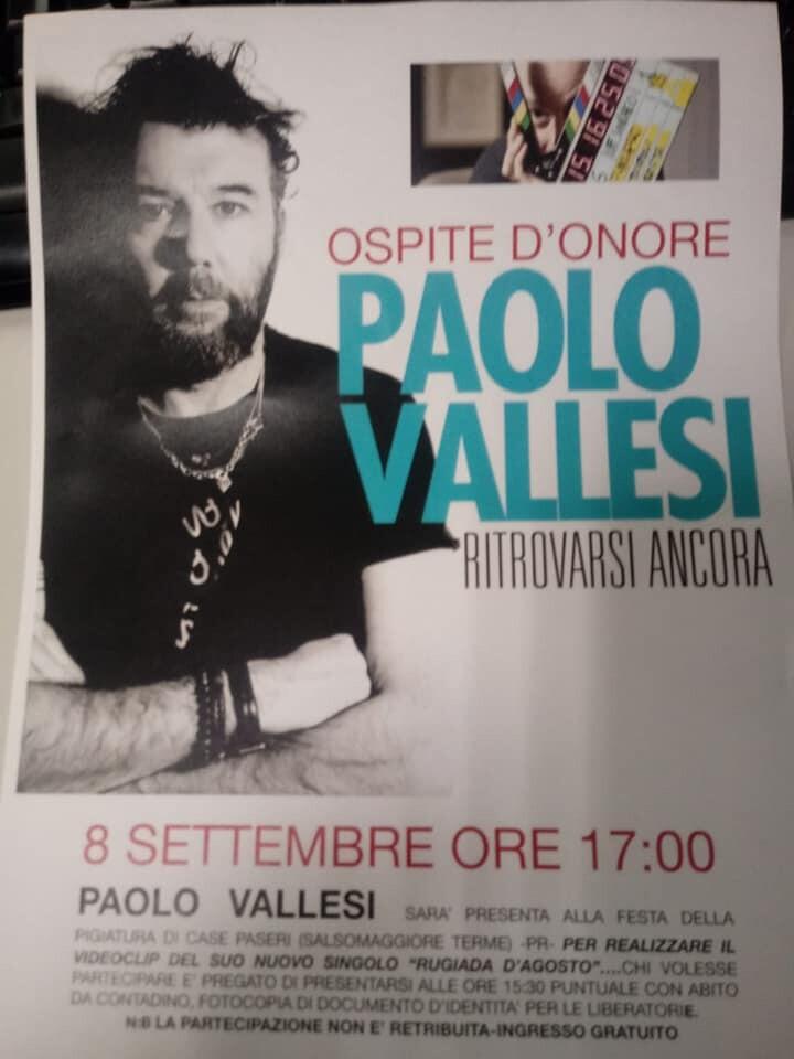 Paolo Vallesi alla festa della pigiatura a Scipione