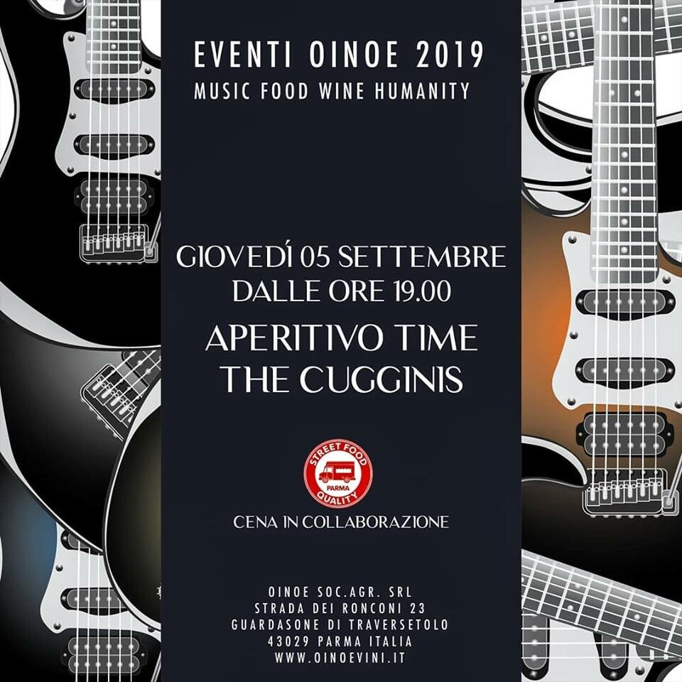 """Apericena in cantina da Oinoe con la musica dei """"The cugginis"""""""